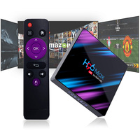 Set Top Box TV 4G DDR3 USB 3.0 Bluetooth 4.0 Android 9.0 os 4 K 4096x2160 H96 inteligente 3D Penta-Core GPU Mali-450 RK3318 2.4G/5G