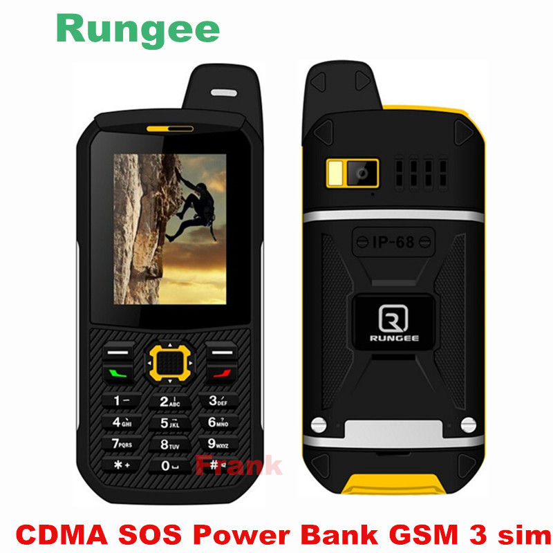 rungee x1 ip68 waterproof phone 3 sim card gsm cdma bluetooth torch power bank senior old man. Black Bedroom Furniture Sets. Home Design Ideas