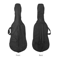 Portable 4/4 & 3/4 Cello Gig Bag Carrying Bag Case Backpack Adjustable Shoulder Strap Black(China)