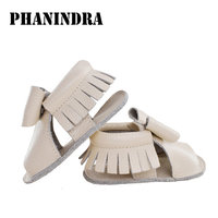 New Style Genuine Leather Shoes Baby Moccasins Soft Moccs Baby Kids Sandal Girl Newborn First Walker
