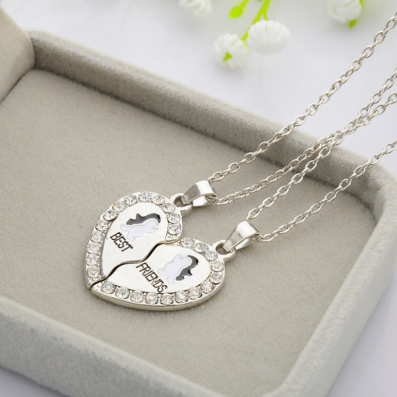 HTB1vdMXUSzqK1RjSZFHq6z3CpXa9 - 2 PCS/Set Animal Best Friends Friendship Couple Two Parts Pendant Necklace Best Gifts For Men Women BFF Jewelry