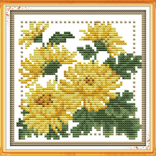 Twelve Months Flower- November Canvas DMC Cross Stitch Kits