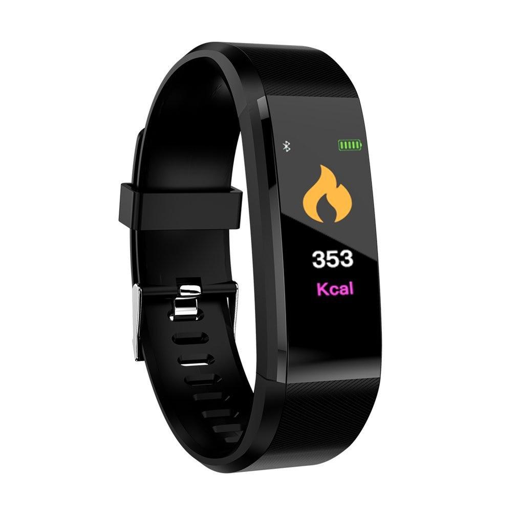 115 PLUS Smart Bracelet Blood Pressure Step Counter Fitness Tracker Smartband Touch Screen Bluetooth Smart Wristband