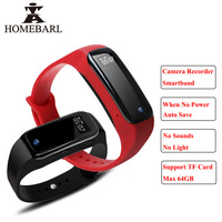 Hot Full HD Camera Voice Recorder Bluetooth Smart Band Wristband Monitor Waterproof Smart Bracelet Android IOS Activity Tracker