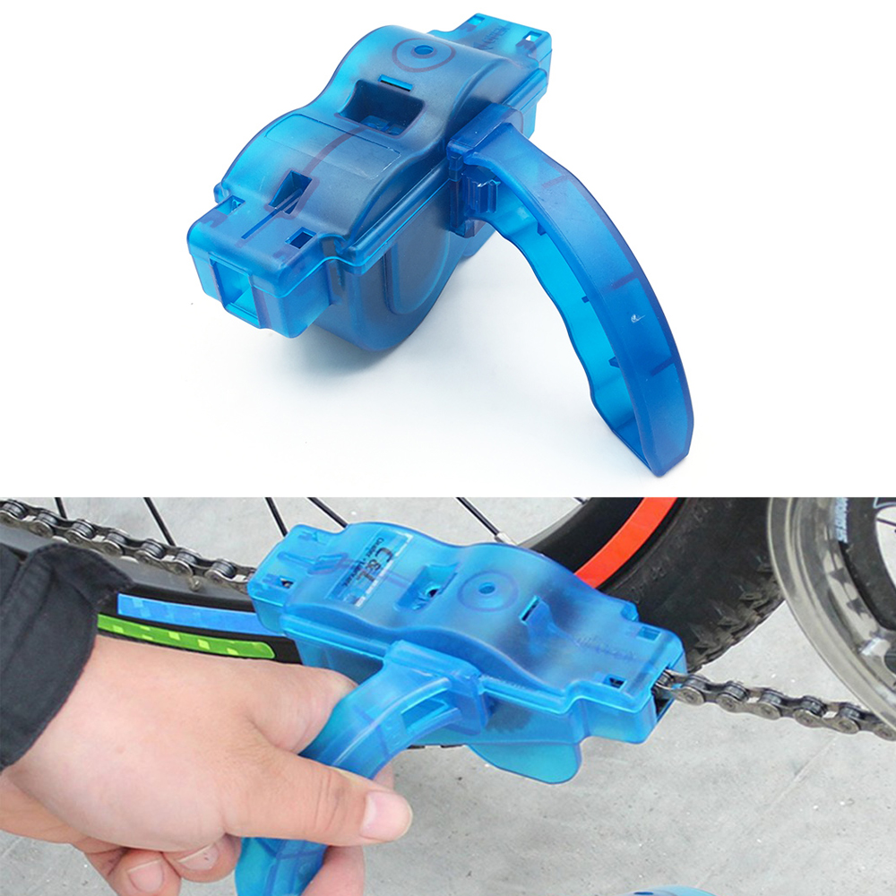 Portable Bicycle Chain Cleaner Bike Clean Machine Cycling Repair Tool Kits Brushes Scrubber Set Machine MTB Bike Wheel Washer