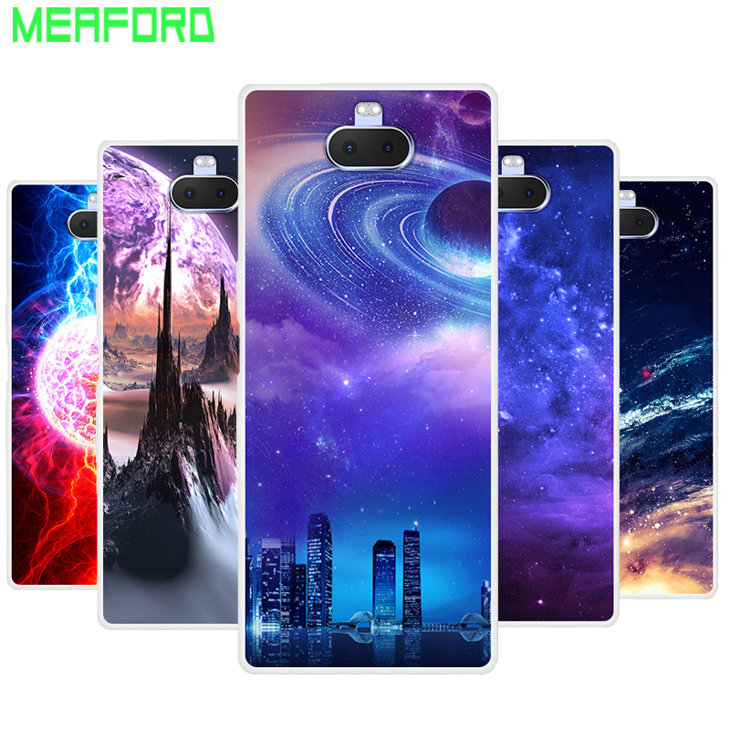Silicone <font><b>Case</b></font> For <font><b>Sony</b></font> Xperia 10 Plus Soft Art Space Print Back Cover For <font><b>Sony</b></font> <font><b>Xperia10</b></font> Plus I3213 I4213 Clear bumper Phone <font><b>Case</b></font> image