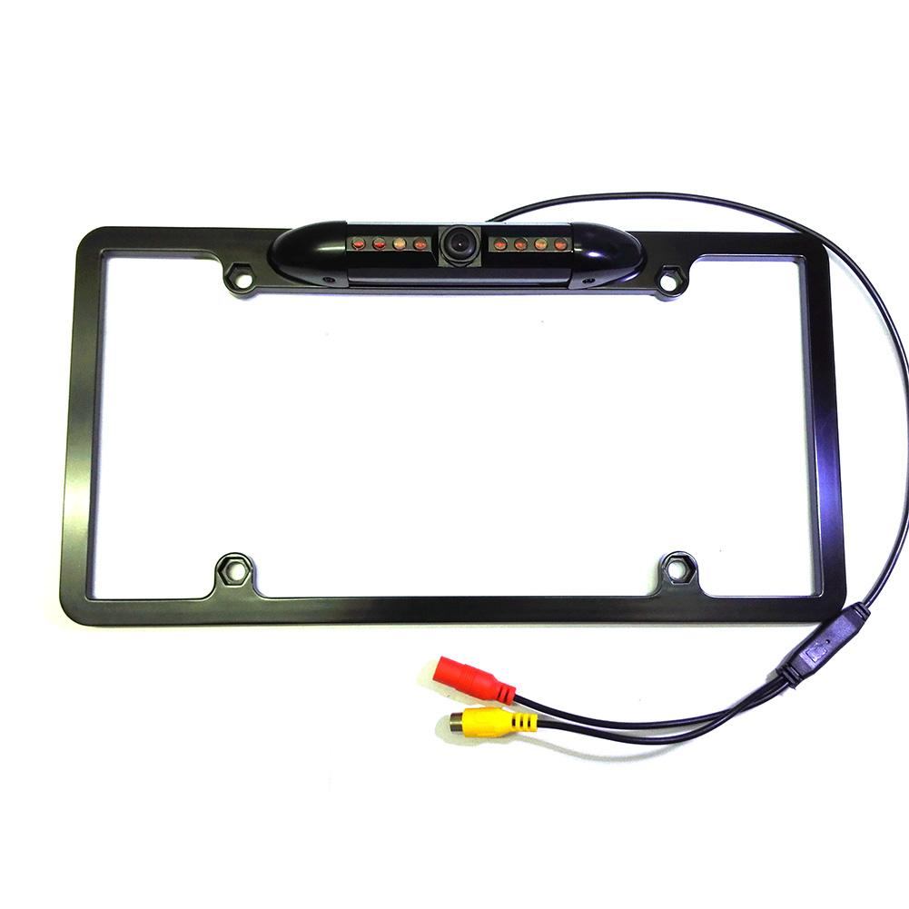 Universal Black American License Plate Frame Car Camera HD Infrared Night Vision Frame License Plate Rear View Camera