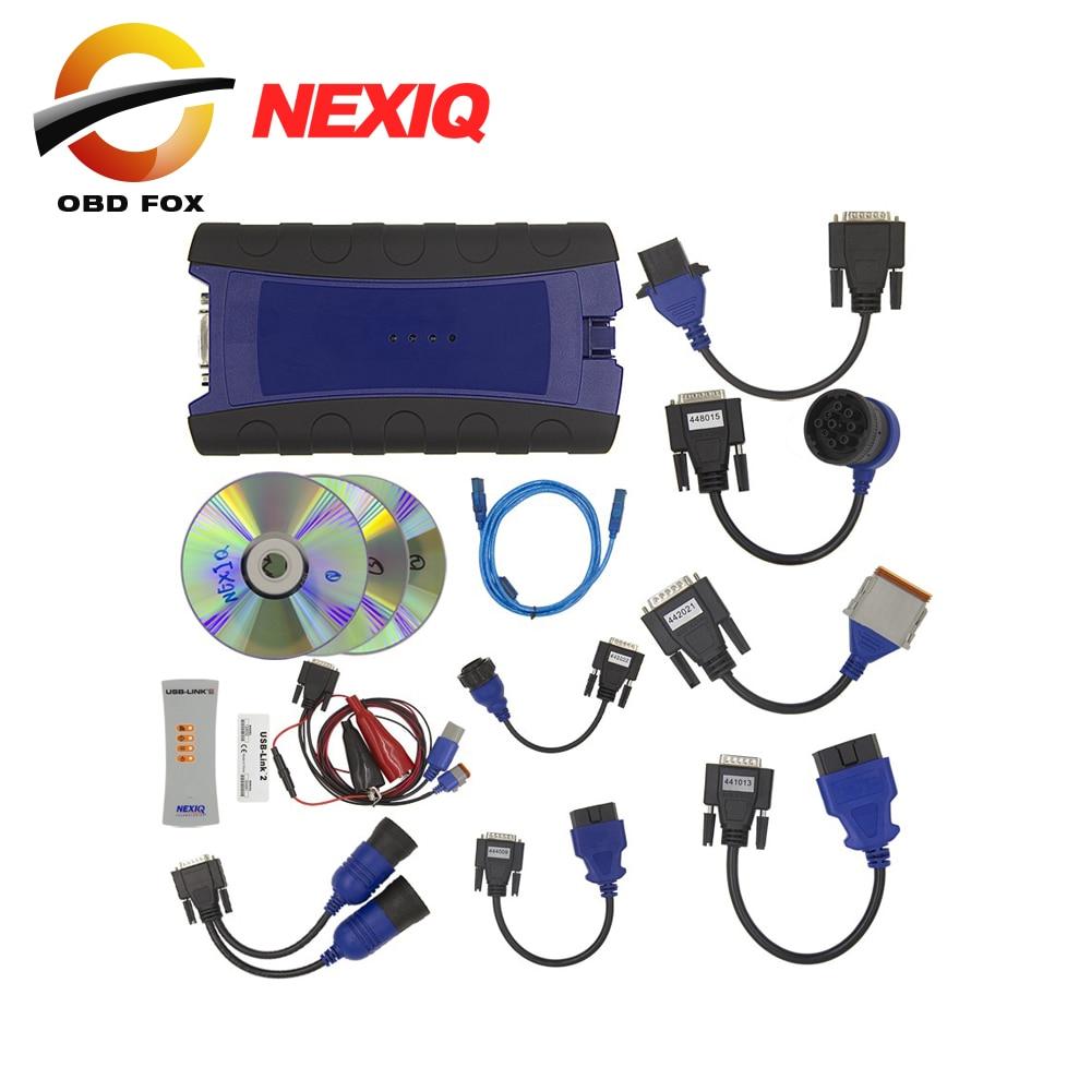 Prix pour 2017 Nouveau NEXIQ USB Lien Camion Outil De Diagnostic Avec Ensemble Complet NEXIQ 2 USB Lien Avec Logiciel Camion Diesel Interface DHL livraison