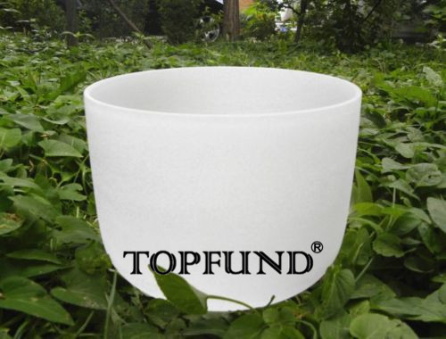 TOPFUND Based on 440Hz Frosted Perfect Pitch G Note Throat Chakra Quartz Crystal Singing Bowl 10  With Free Mallet and O-Ring 2pcs set 9060 9x6 dd direct drive cw ccw propeller blade for rc airplane models apc style grey color