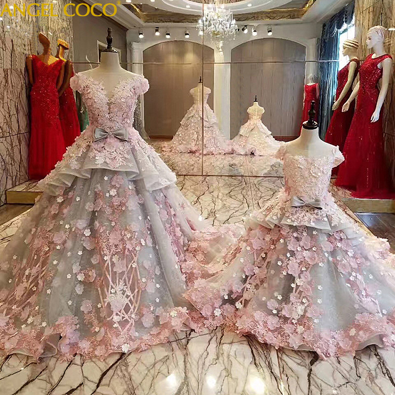 Luxury Mother Daughter Dresses Beaded Custom Mommy And Me Clothes Crystal Robe De Soiree Mutter Tochter Kleidung Mamma E Figlia ...