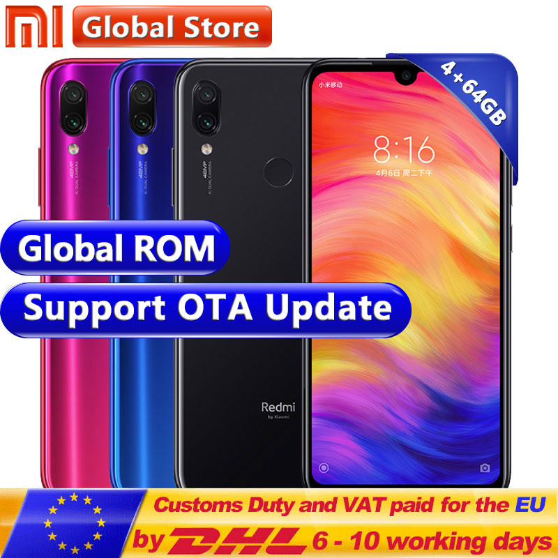 "Global ROM Xiaomi Redmi Note 7 4GB 64GB Telephone Snapdragon 660 Octa Core 4000mAh 6.3"" 2340*1080 48+13MP Camera Smartphone(China)"