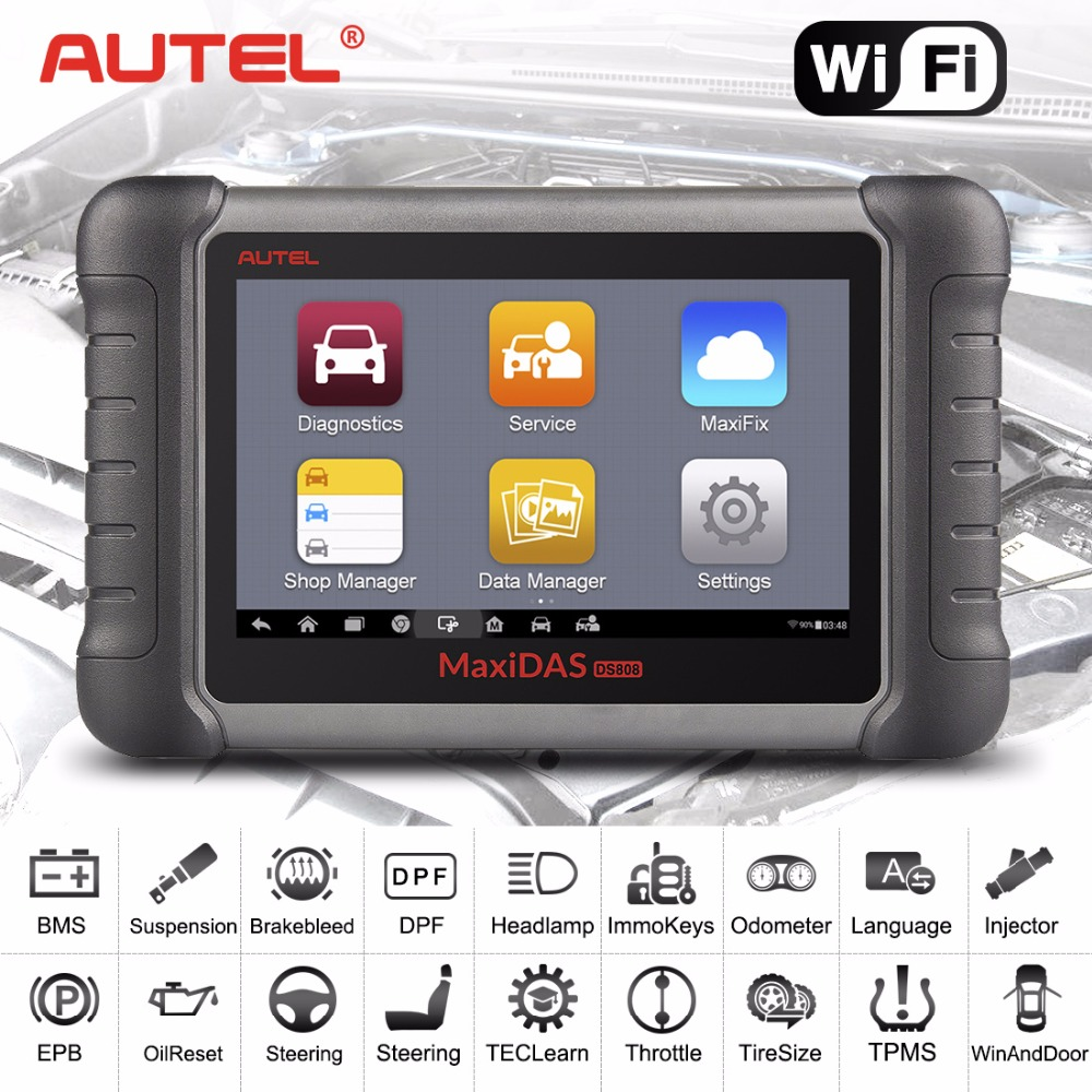 AUTEL MaxiDAS DS808K (Upgraded Version Of DS708,DS808) OBD2 Scanner Code Reader Diagnostic Tool DS808K KIT Tablet autel maxidas ds808 auto diangostic tool perfect replacement of autel ds708