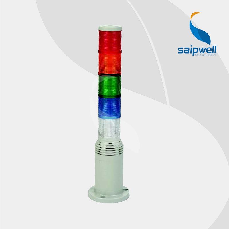 10 Вт 5 слоев светодиодный сигнал светящаяся башня с вышивкой закрытых стежков/промышленная лампа ровного света многоуровневые Предупреждение света(LTA-503-5T