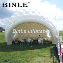 купить Special design inflatable igloo maquee dome tent inflatable golfball reception inflatable yurt tent for event онлайн