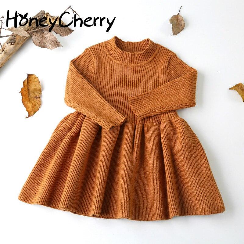 Осень зима 2019; шерстяной вязаный свитер для девочек; платье для маленьких девочек; вечерние платья для девочек; одежда для маленьких девочек на свадьбу