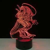 Alien vs Predator 3D Lighting Mood lámpara 7 colores que cambian Lamparas con Cable USB amigos cumpleaños regalo hogar Decoración Drop Ship