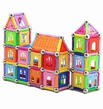 130pcs/Set Magnetic Building Blocks Toys Similar Building Kit Toys Playing Magnetic Toy Educational Magnet Bricks