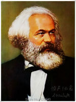 Karl Heinrich Marx Portrait Oil Painting Home Decoration Oil painting Wall Pictures Home Decor Poster Wall art paint