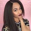 Shine Real Peluca Del Frente Del Cordón Del Pelo Humano completo para Las Mujeres Recto rizado Color Natural Negro Peluca Delantera Del Cordón con el Bebé pelo