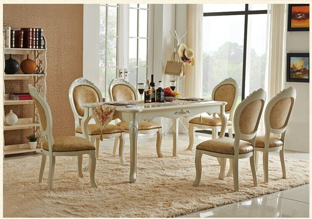 Us 230 0 Newest Wholesale Europe Classic Style Dining Room Sets Furniture Table And Chairs L909 In Dining Room Sets From Furniture On Aliexpress Com