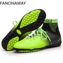 FANCIHAWAY zapatos de fútbol XI Superfly alto tobillo botas de fútbol fluorescente TF barato calas Athletic Trainer arranque chuteira césped