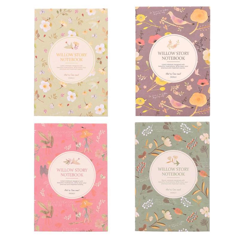 1 Stück/3 Stücke Blume Vogel Tasche Notebook Zeitschriften Papier Tagebuch Wöchentlich Planer Schreiben Pad Für Studenten Büro Schreibwaren Geschenk