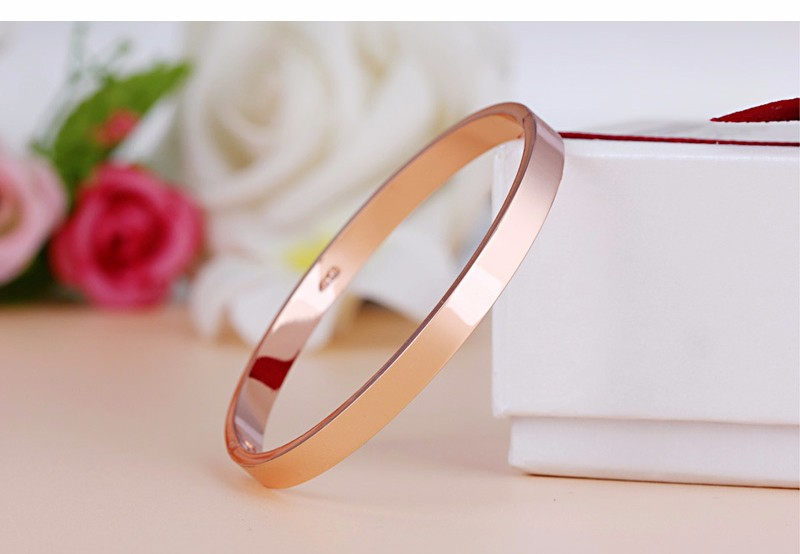 Luxury Lover Cuff Bracelets&Bangles Top Silver Color Brand Couples Simple Glaze Buckle Love Charm Bracelet For Women Or Men 8