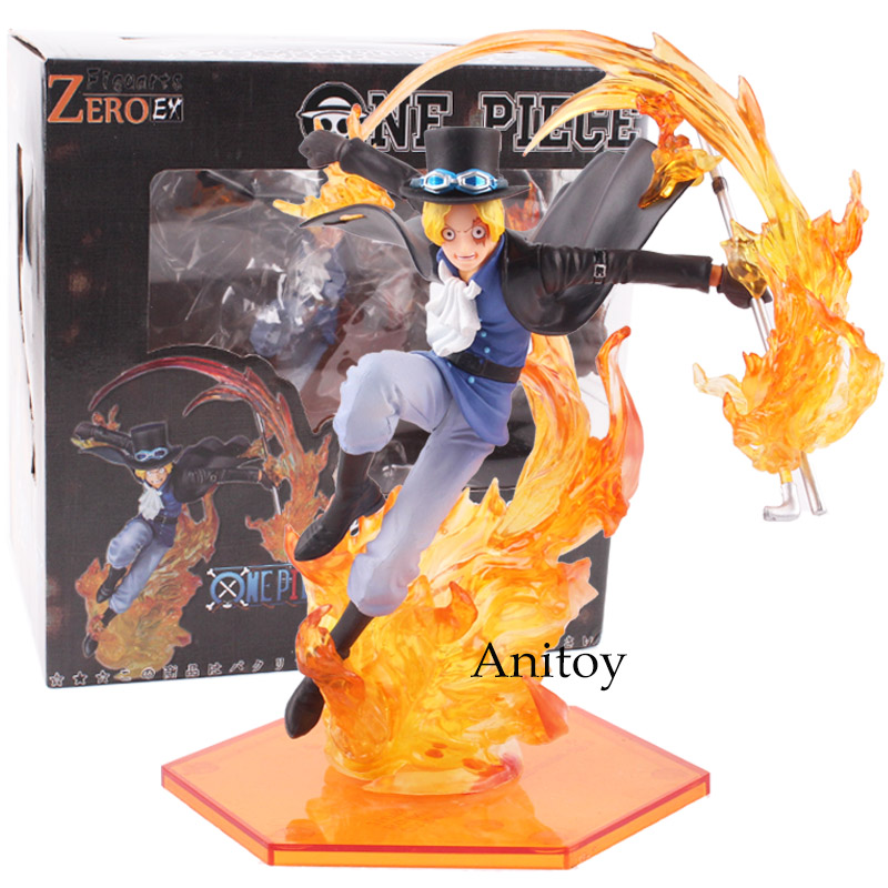 Anime One Piece Figure Figuarts ZERO EX Sabo PVC Action Figure Collectible Model Toy 17cm KT4808 anime dragon ball figuarts zero super saiyan 3 gotenks pvc action figure collectible model toy 16cm kt1904