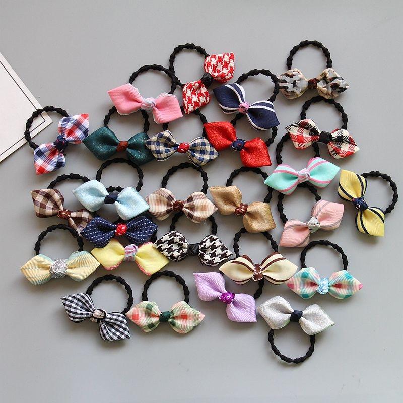 Girls' Clothing Cute Satin Ribbon Bow Baby Girls Newborn Elastic Hair Rubber Bands Ring For Children Hair Ties Bows Scrunchies Ornaments Tiara Hair Accessories