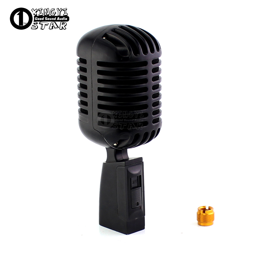 Professional Classic Vintage Microphone Recording Studio Dynamic Microphones For PC KTV Launchpad Megaphone Gaming Karaoke Mic