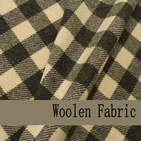 Free shipping Black/ Yellow Check Yarn Dyed Woolen Fabric For Coat W1H54