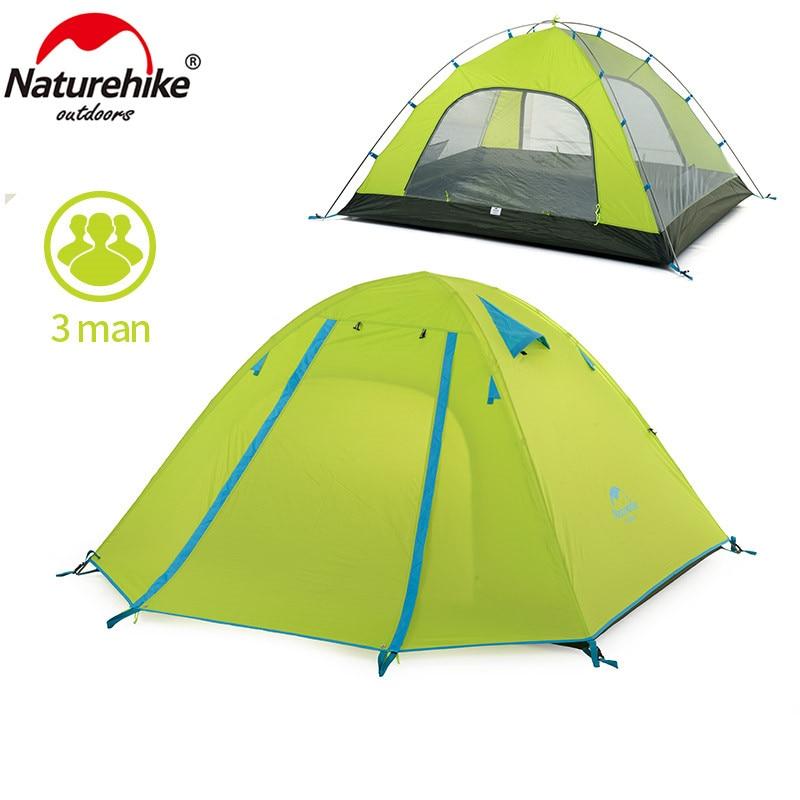 NatureHike P Series Classics Tent 210T Fabric For 3 Person NH15Z003-P 63a 3 p 3 p n rcbo rcd выключателя de47le delxi
