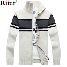 Riinr 2017 Fashion New Arrival Sweater Men Winter&Autumn Long Sleeve Knitting Cardigan Masculino High Quality Men's Sweaters