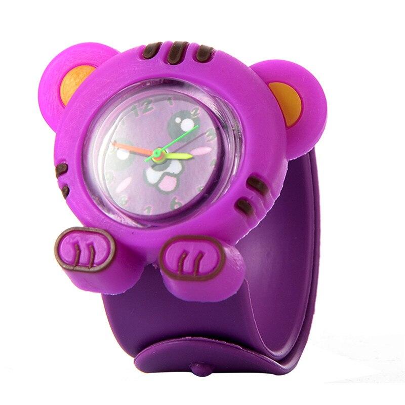 Дети Часы 3D Креатив Шлепок Мультфильм Силикон Кварц Наручные часы Дети Тигр Спорт Пат Круг Часы Милый Ребенок Часы Подарки