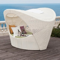 Ourdoor Lounge Bed Chair with Canopy / Cusion and Pillow Included / Sea Ship Only / Allow >8 Weeks Delivery
