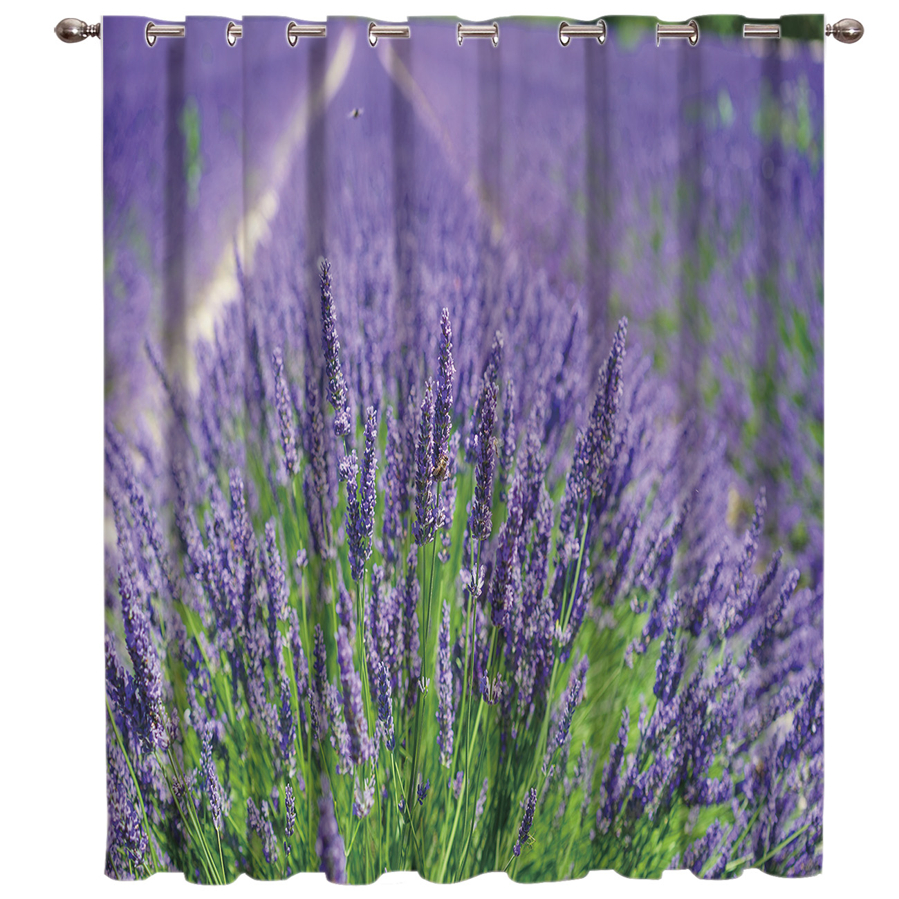 Lavender Flower Window Treatments Curtains Valance Room Curtains Large Window Living Room Bathroom Blackout Kitchen Fabric