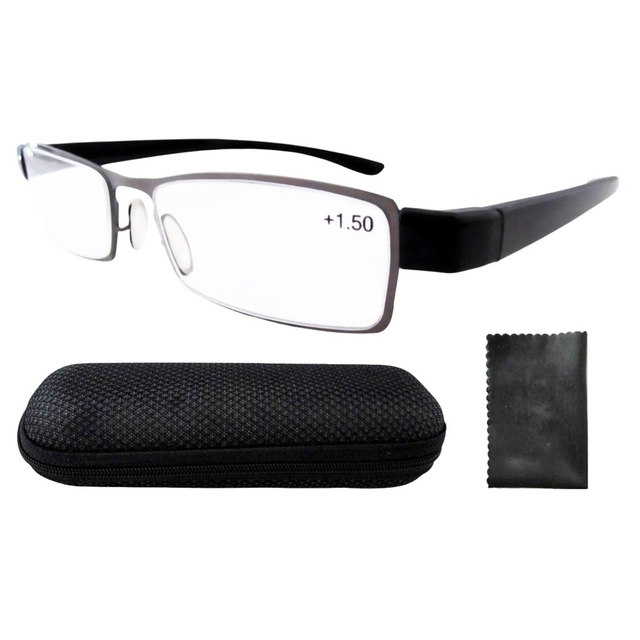 b905a0d8ae11 R11019 Patent Lightweight Stainless Steel Frame Reading Glasses Readers  Eyeglasses+1.0 1.25 1.5 1.75 2.0 2.5 2.25 2.75 3.0 3.5 4