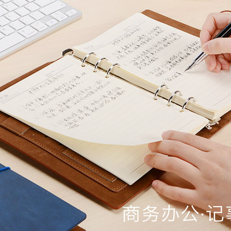HUA JIE A5 PU Loose-leaf Spiral Notebooks Vintage Binder Business Planners Dairy Agenda Filler Paper Card Slots Pen/file Holders сумка all out 908767 barnsley blue dream check