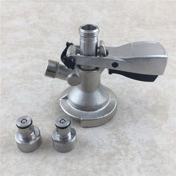 Homebrew keg na piwo z kranu dozownik typu łącznik baryłkowy z gazu i cieczy Adapter blokada piłka szybkie odłącz zestaw do konwersji