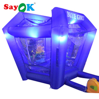 2017 New design inflatable money machine booth inflatable cash cube machine with RGB Led lightings for sale