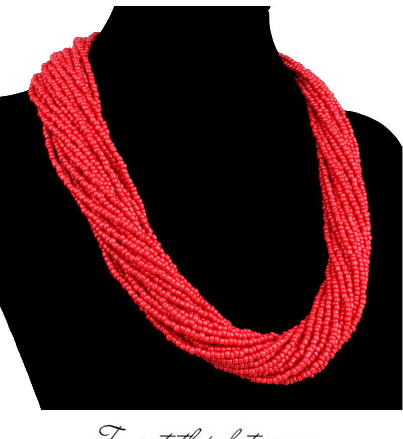 New Fashion jewelry bead necklace nigerian wedding african beads seed bead necklace