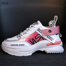 BJYL 2019 New Spring Fashion Women Casual Shoes Comfortable Platform Woman Sneakers Ladies Trainers chaussure femme B136