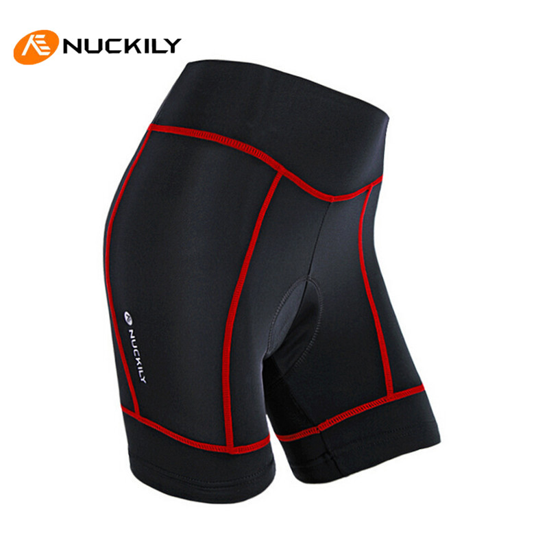 NUCKILY Women Running Riding Sportswear MTB Road Bike Shorts Gel Pads Breathable Anti-Sweat Pro Bicycle Cycling Shorts