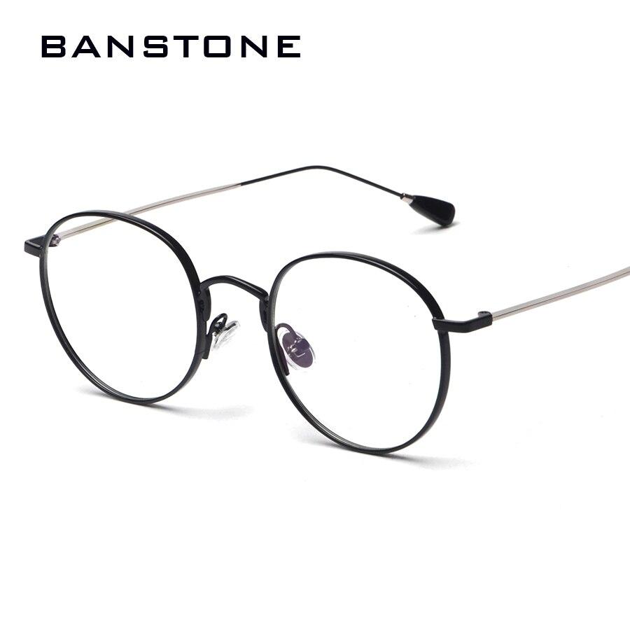 BANSTONE Mode Brillen Frauen Rahmen Gläser Vintage Runde Augenrahmen ...