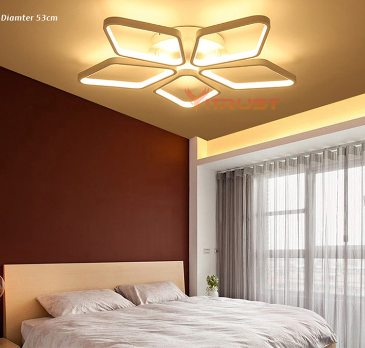 Acrylic Modern led ceiling lights Dimming Ceiling Lights For Living Study Room fashion chandeliers lamp AC110-240V