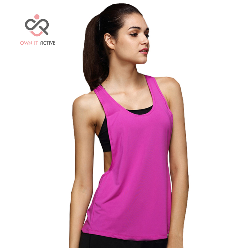 Womens Yoga Shirts Woman Running Vest Cool Gym Shirts Yoga