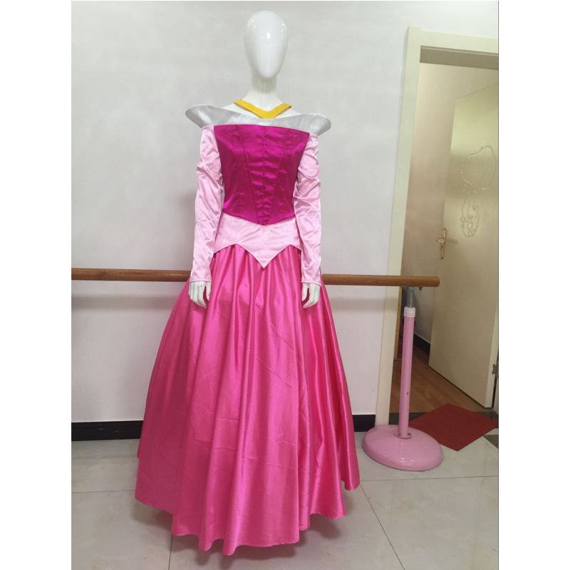 Sleeping Beauty Aurora Princess Dress Cosplay Costume Adult Halloween Carnival Party Costume Full Set Custom