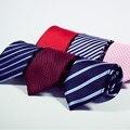 Nuevos Accesorios de Moda Corbata de Alta Calidad de 8 cm lazos de Los Hombres de traje de boda de negocios Negro Ocasional Rojo
