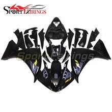 Carenagens Para Yamaha R1 09 10 11 Ano 2009 2010 2011 Gloss black injeção ABS Da Motocicleta Completa Fairing Kit Carroçaria Decalques de Ouro