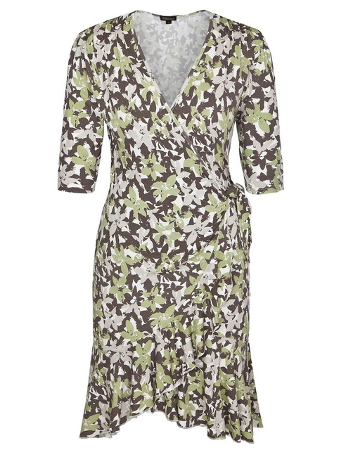 Chicwe Womens Stretch Plus Size Floral Printed Flirty Flounce Wrap